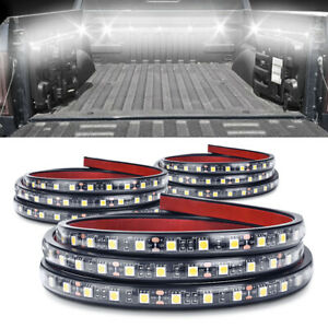 3pcs Waterproof 60 Led Truck Bed Lights Strip White Lamp For Jeep Pickup Rv Suv