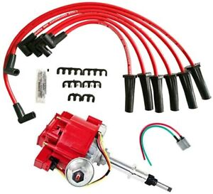 Chevy Gmc 230 250 292 Late Model Hei Distributor 65k Coil Spark Plug Wires Truck