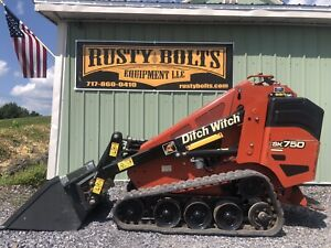2015 Ditch Witch Sk750 Track Mini Skid Steer Kubota Diesel Cheap Shipping