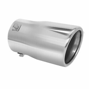 Car Muffler Tip Exhaust Pipe Stainless Steel Chrome Effect Fit 2 2 75 Inch