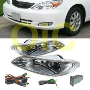 For Toyota 02 04 Camry 05 08 Corolla Clear Fog Lights Driving Lamp wiring switch