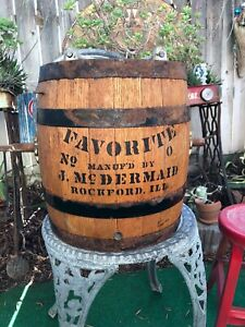 Oak Barrel Butter Churn J Mcdermaid Rockford Ill From Wonder Valley Ranch Calif