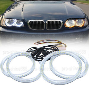 Switchback Dual Color Angel Eye Drl Devil Demon Halo Rings For Hyundai Tiburon