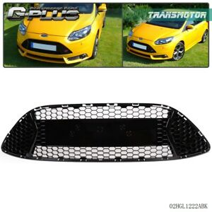 New For 2013 2014 Ford Focus St Front Radiator Grille W O Emblem Gloss Black