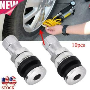10pcs Tr161 Metal Car Truck In Tire Tyre Valve Short Stems With Dust Cap