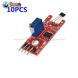10pcs Hall Magnetic Standard Linear Module For Arduino Avr Pic
