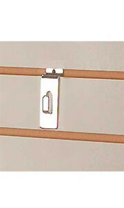 Notch Hook In Chrome For Slatwall Panel Box Of 100