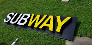 Led Illuminated Channel Letter Subway Sign On A Raceway 32 X 144
