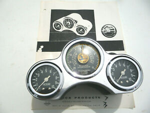 1955 1956 1957 Thunderbird Mcculloch Supercharger Early Gauge Cluster Very Rare