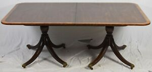 Kittinger Mahogany Double Base Dinning Table 100 Year Anniversary Collection