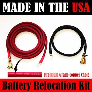 Made In Usa Battery Relocation Kit 2 Awg Cable Top Post 25 Ft Red 8 Ft Black
