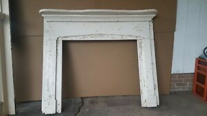 2 Antique Wood Fireplace Mantles