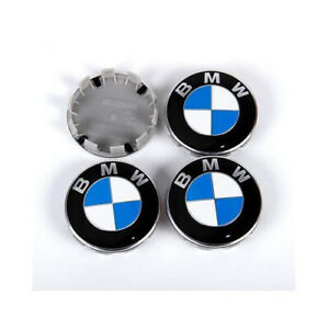 4x Wheel Center Hub Cap Blue Badge Emblem Logo 68mm For Bmw 1 3 5 6 7 X Z Series