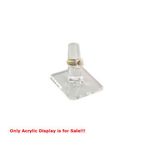 Acrylic Single Ring Display In Clear 2 W X 2 25 D Inches Count Of 4