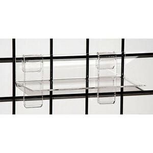 Acrylic Grid Shelf 9w X 4d X 1 8 Inches In Clear Count Of 10