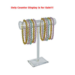 Clear Single pole Necklace bracelet Counter Display 15h X 14w Inches Box Of 2