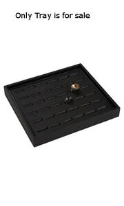 Ring Tray Black Finished Leatherette 7 25 W X 8 25 L X 1 H Inches