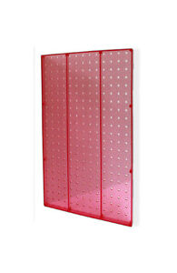 Plastic Pegboard Panels In Pink 13 5w X 22 H Inches Pack Of 2