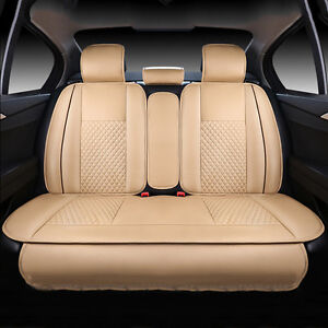5 seats Pu Leather Car Chair Seat Mat Cushion Pad Fits Honda Accord 2013 2016 Fs