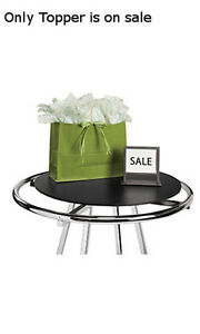 Wood Topper In Black 30d Inches Fits For Round Clothing Rack