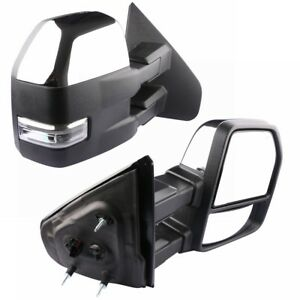 Towing Mirrors For 2007 2014 Ford F150 W Puddle Light Turn Signal Power Heated