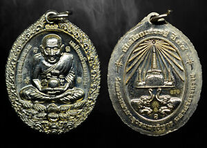 Thai Buddha Amulet Phra Lp Tuad Coin Open World Millionaire Protect Pendant 679