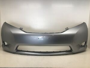 Front Bumper Cover Toyota Sienna Base Limited Le Xle W O Sensor 2011 2017 Oem2