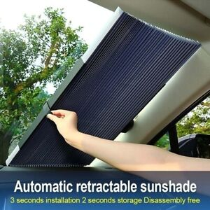 Retractable Car Windshield Sun Shade Insulation Visor Window Block Cover 45cm Us