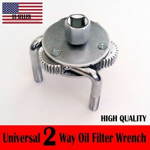 5 X Universal Two Way Oil Filter Wrench Removal Tool Fully Adjustable Heavy Duty