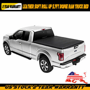 Soft Roll Up Tonneau Cover For 2009 2018 Dodge Ram 1500 2500 5 7ft Black Bed