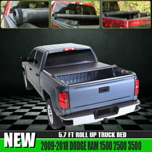 Fit Dodge Ram 1500 2500 3500 5 7 Truck Bed Leather Roll Up Tonneau Cover