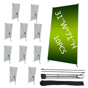10 Pcs 31 x71 Economy Retractable Roll Banner Stand Display Aluminum Promotion