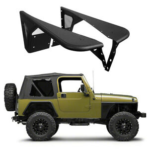A Pair Front Fender Flares Armor Guard Textured For 1997 2006 Jeep Wrangler Tj