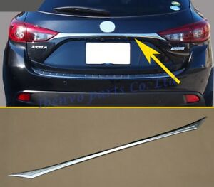 Glossy Chrome Rear Trunk Trims For Mazda3 Hatchback Bm bn 2014 2018 Accessories
