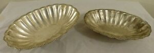 Set Of 2 Vintage International Silver Co Silver Plated Serving Trays