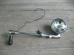 Vintage Unity H 1 Side View Spotlight Police Alley Searchlight Marked Ford