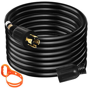 Generator Extension Cord 15ft 10 4 Power Cable 30 Amp Adapter Plug Copper Wire