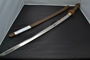 Katana Japanese Antique Gunto Sword Mumei Made Showa Period About 80 Years Old