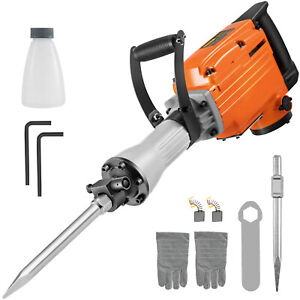 2200w Demolition Jack Hammer Electric Concrete Breaker Punch 2 Chisel Bit
