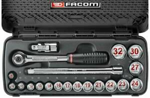 Facom 1 2in Drive 20 Piece Metric Socket Set 8 32mm S 6pb Sale Time Is Now