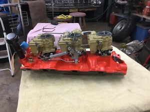 1958 Chevrolet 348 True Tripower Carbs And Intake F 11 58