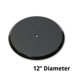Black Plastic Revolving Display Base 12d X 0 75h Inches Pack Of 10
