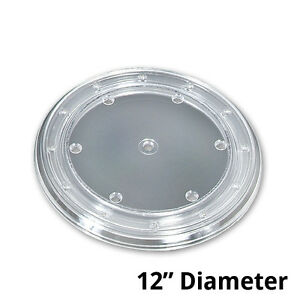 Plastic Clear Revolving Display Base 12d X 0 75h Inches Box Of 10
