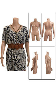 Female Plastic Body Mannequin 34 H Inches With Removable Arms