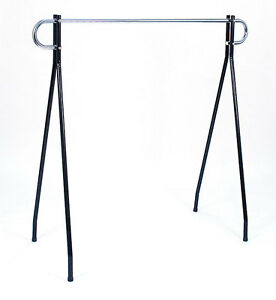 Clothing Racks In Black chrome Hang Bar 64 H X 60 L Inches