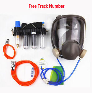 4 In 1 Circulating Supply Air Fed Respirator System 6800 Full Face Gas Mask