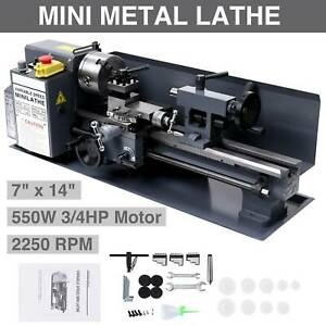7 X 14 mini Metal Lathe Machine 550w Variable Speed 2250 Rpm Dc Motor Driven