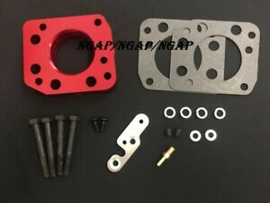 Red Throttle Body Spacer For 93 00 Honda Civic Sohc Vtec Non Vtec 1 5l 1 6l