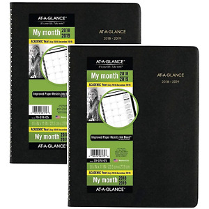 At a glance Academic Monthly Planner July 2018 December 2019 8 7 8 X 11 2