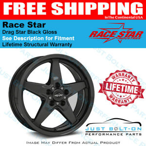 Race Star 92 Drag Star Black 17x11 5x115bc 6bs Widebody Charger Challenger Demon